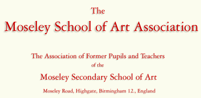 Moseley School of Art Association - Moseley Secondary School of Art, Moseley Rd. Birmingham Index logo